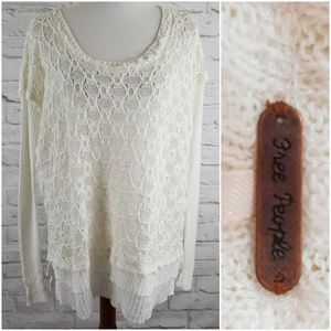 Free People Urban Outfitters Sweater Linen Blend M